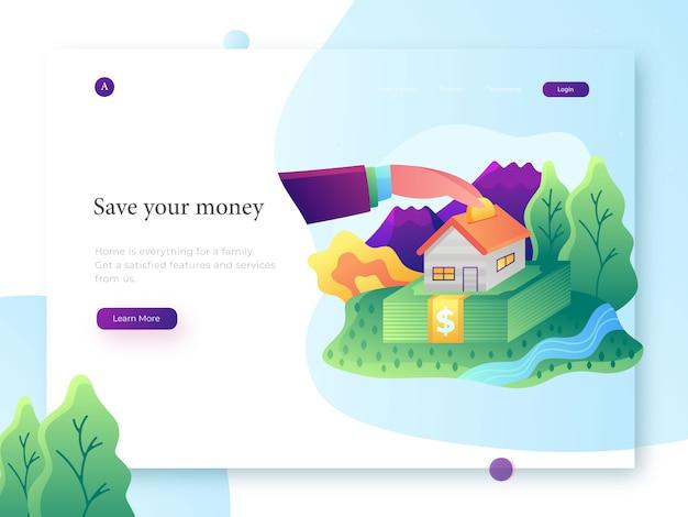 Ilustração do banco