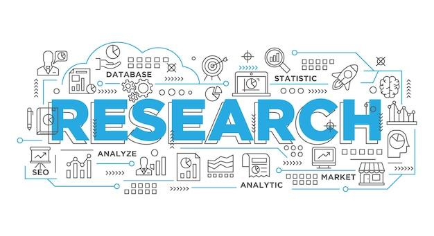 Ilustração do banner criativo, marketing digital banner de apresentação de pesquisa statisic
