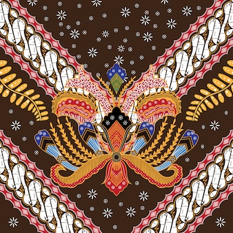 Ilustração do batik indonésio