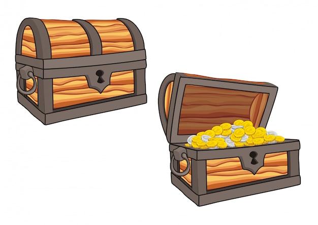 Ilustração do baú do tesouro