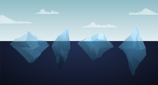 Ilustração do bloco de iceberg