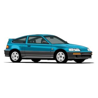 Ilustração do blue sport hatchback car