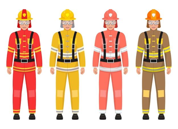 Ilustração do bombeiro isolada no branco