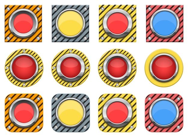 Ilustração do botão de pânico isolada no fundo branco