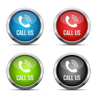Ilustração do botão ligue para nós em fundo branco