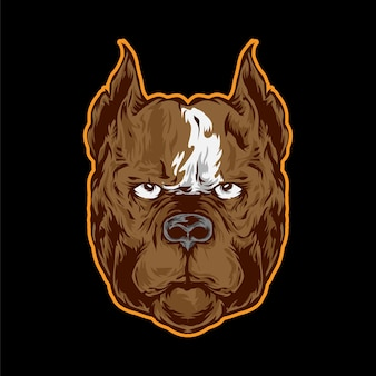 Ilustração do boxeador para logotipo e mascote