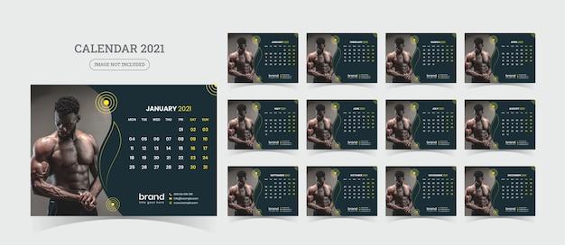 Ilustração do calendário de mesa