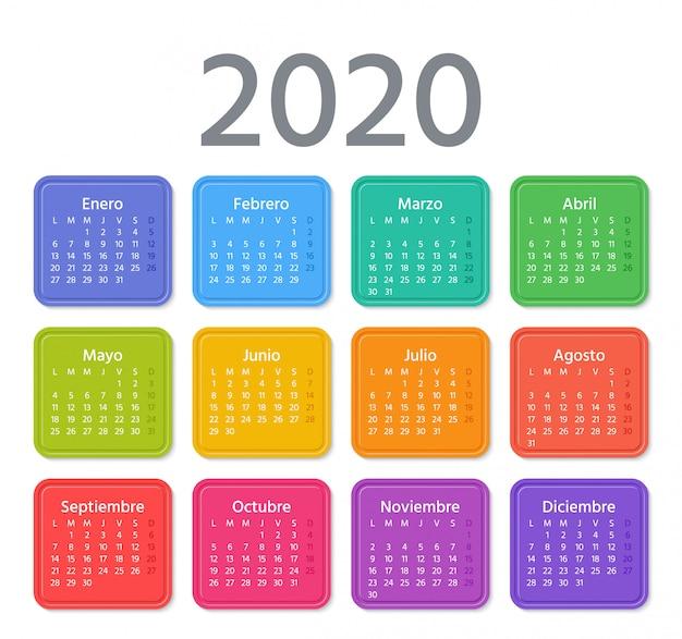 Ilustração do calendário espanhol