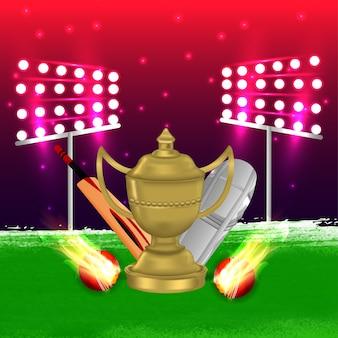 Ilustração do campeonato de críquete