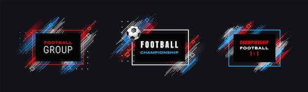 Ilustração do campeonato de futebol da copa de futebol
