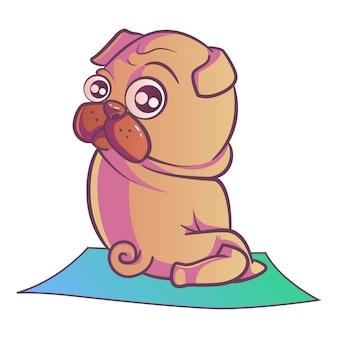 Ilustração do cão do pug.