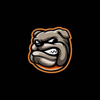 Ilustração do cão pitbull