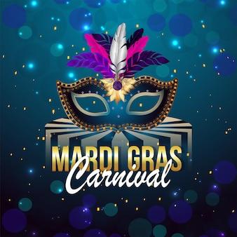 Ilustração do carnaval mardi gras