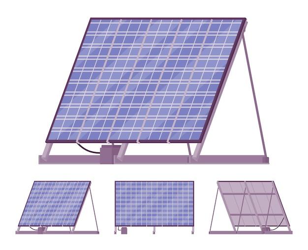 Ilustração do carregador de bateria do kit do painel solar