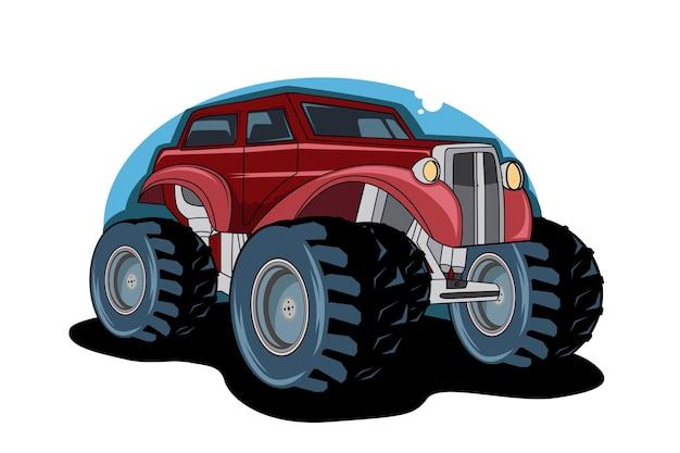 Ilustração do carro clássico desenho a mão