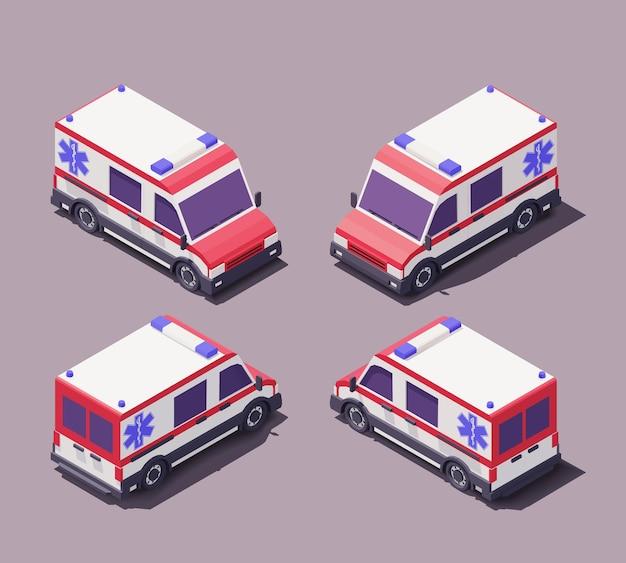 Ilustração do carro de emergência da ambulância