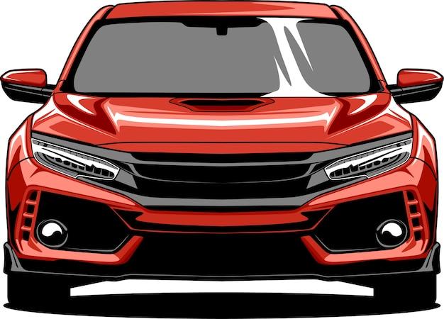 Ilustração do carro esportivo vermelho
