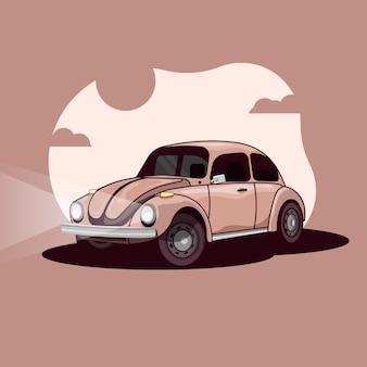 Ilustração do carro vintage