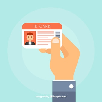 Ilustração do cartão de identificação