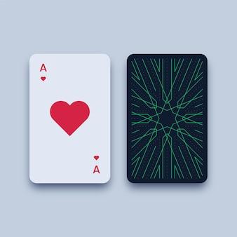 Ilustração do cartão de jogo ás de copas