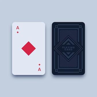 Ilustração do cartão de jogo ás de ouros