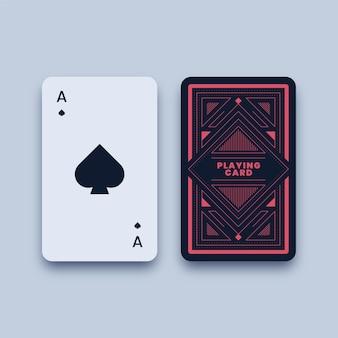 Ilustração do cartão de jogo do ás de espadas