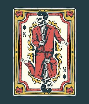 Ilustração do cartão king