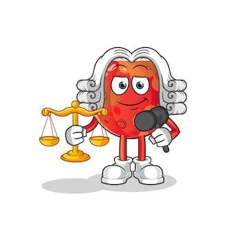 Ilustração do cartoon advogado da mars