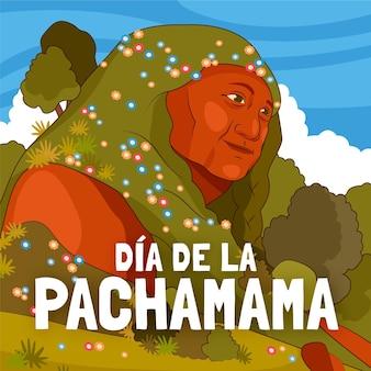Ilustração do cartoon dia de la pachamama