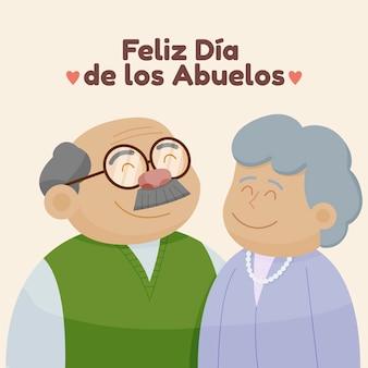 Ilustração do cartoon dia de los abuelos