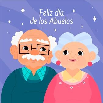 Ilustração do cartoon dia de los abuelos Vetor grátis