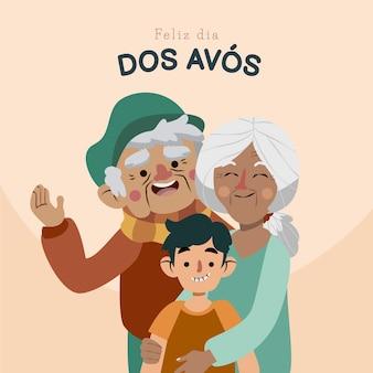 Ilustração do cartoon dia dos avos
