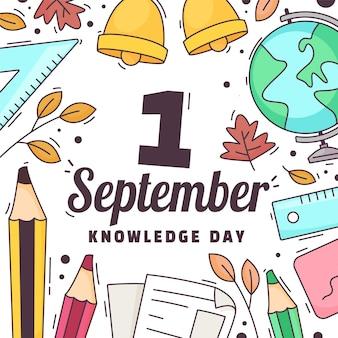 Ilustração do cartoon em 1 de setembro