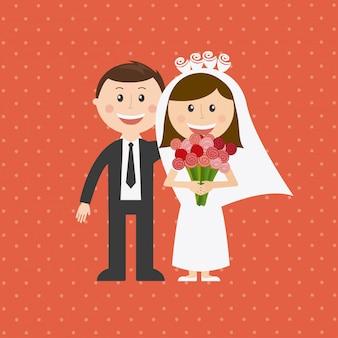 Ilustração do casamento