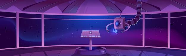 Ilustração do centro de controle da nave espacial