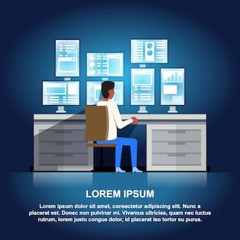 Ilustração do centro de dados.