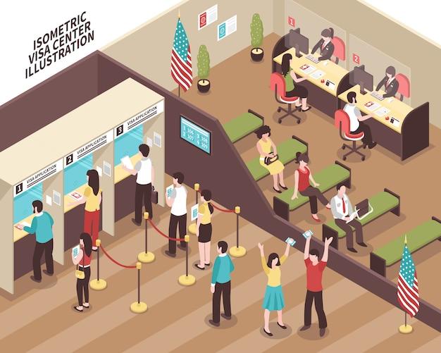 Ilustração do centro visa