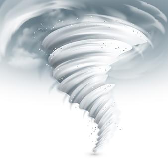 Ilustração do céu do furacão