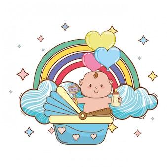 Ilustração do chuveiro de bebê