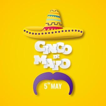 Ilustração do cinco de mayo