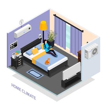 Ilustração do clima em casa