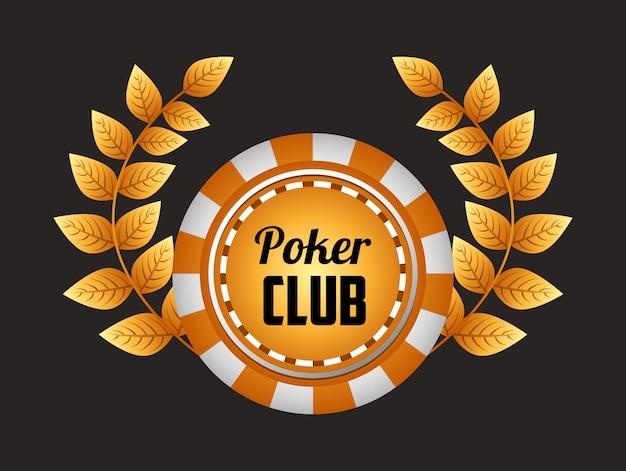 Ilustração do clube de poker