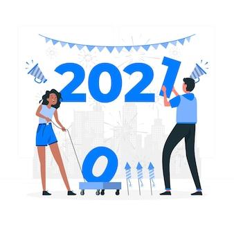 Ilustração do conceito 2021