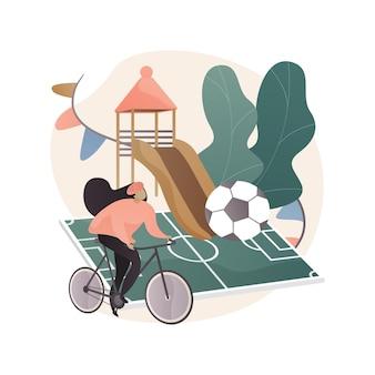 Ilustração do conceito abstrato das atividades depois da escola