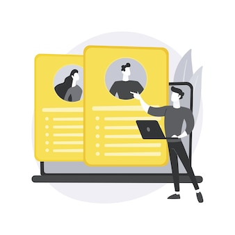 Ilustração do conceito abstrato de agência de recrutamento.