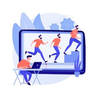 Ilustração do conceito abstrato de animação por computador