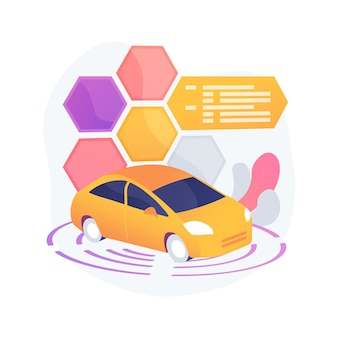 Ilustração do conceito abstrato de carro autônomo