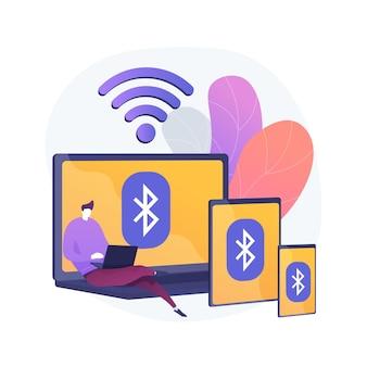 Ilustração do conceito abstrato de conexão de dispositivo sem fio
