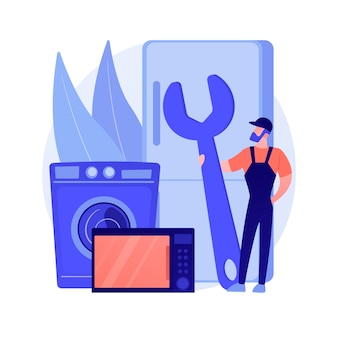 Ilustração do conceito abstrato de conserto de eletrodomésticos