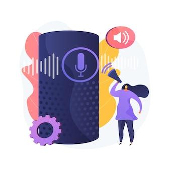 Ilustração do conceito abstrato de controle de voz